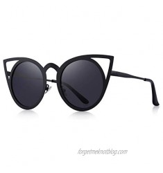 MERRY'S Cat Eye Sunglasses Round Metal Cut-Out Flash Mirror Lens Sun glasses S8064