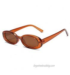Vanlinker 90s Sunglasses for Women Men Polarized Retro Oval Sunglasses Small Narrow VL9580