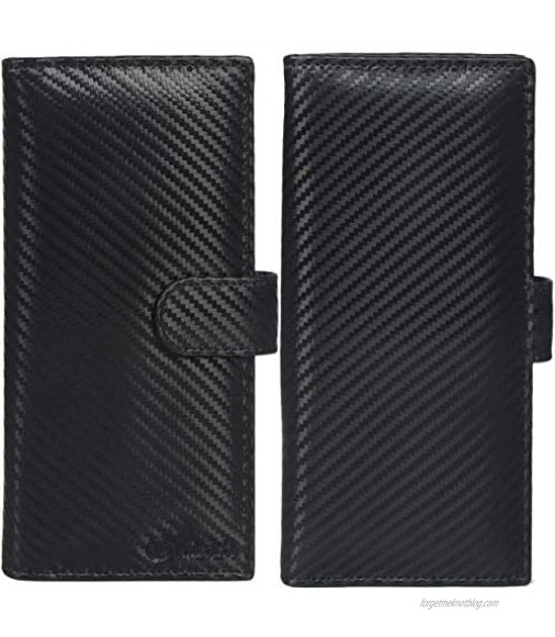 Valenchi-Leather RFID Checkbook cover for Men and Women-Duplicate Checks RFID Card Standard Register with pen inserts