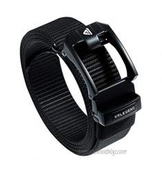 VRLEGEND Nylon Belts Men's Web Belts Big and Tall & Regular Nylon Ratchet Tactical Belts Auto Slide Buckle