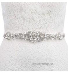 AW BRIDAL Bridal Belt Wedding Belt Handmade Rhinestone Belt Crystal Wedding Sash Belt for Wedding Gown