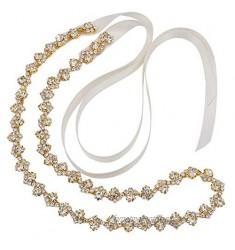 Bridal Belt for Wedding Gown  Crystal Rhinestone Belts for Women  Thin Bridal Belt