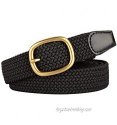Drizzte Womens Plus Size Belts 39 to 75inch Stretch Belt Black Elastic Belts for Women