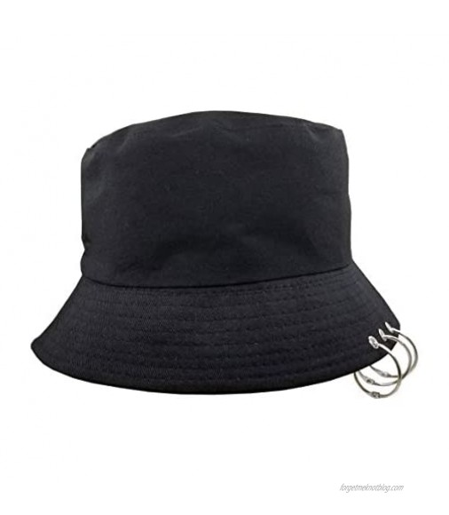 Kpop Hat Bucket Cotton Foldable with Rings