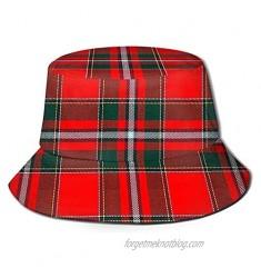 vdcucc Summer Plaid Bucket Hat Reversible for Women Men Teen Sun Hat Fashion Fisherman Hat Beach Travel Outdoor Cap