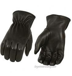 Men's Unlined Deerskin Gloves w/Cinch Wrist - 100% USA Northern Deer (X-Small)