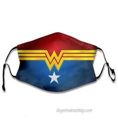 Wonder-Woman Face Cover Reusable Half Mouth S-hield Balaclava Bandanas for Outdoor Mask