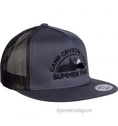 Camp Crystal Lake  Summer 1980 | Funny 80s Retro Vintage Movie Horror Cap Hat Grey/Black
