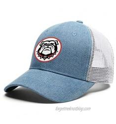 Men/Women Black Bulldogs Baseball Cap Classic Trucker Hat Adjustable Snapback
