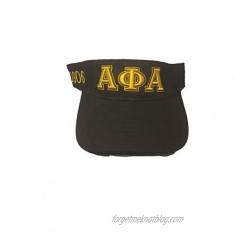 Alpha Phi Alpha Fraternity Visor Black