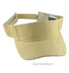 Nayt Men's Straw Adjustable Visor Hat Natural