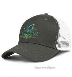 QWQD LandShark Logo Men Womens Mesh Cool Cap Adjustable Snapback Beach Hat