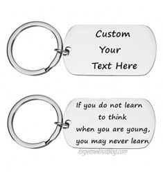 Custom Personalized Free Engraved Stainless Steel Keychain - Keyring