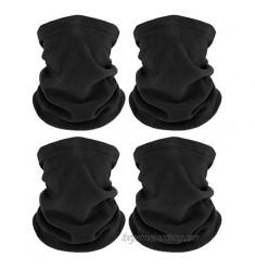 4 Pieces Winter Neck Warmers Fleece Gaiter Windproof Face Covering