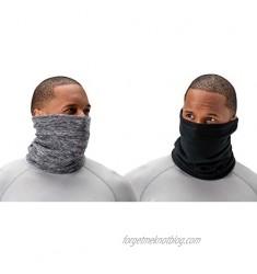 DEVOPS Men's 2 Pack Thermal Fleece Neck Warmer Winter Protection Windproof Gaiter