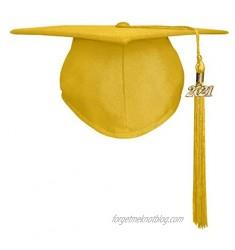 Happy Secret Unisex Matte Graduation Cap with Graduation Tassel Year Charm 2021