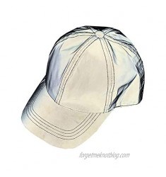 PAODIKUAI Men and Women Night Reflective Hat Runner Cap Visor Bucket Hat Flash Rave Festival Boonie Cap