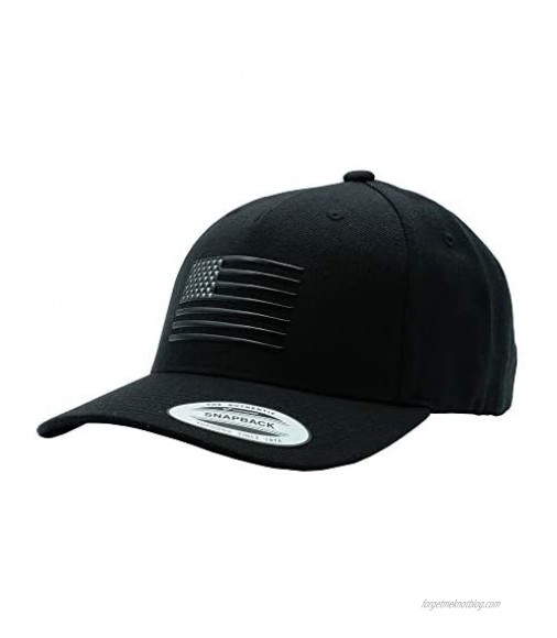 The Pride American Flag Hat Men Women Premium 3D Patch Baseball Snapback Handmade in USA with Imported Goods