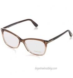 Eyeglasses Tom Ford FT 5514 050 dark brown/other Transparent Brown 54-15-140
