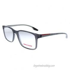 Prada Linea Rossa Lifestyle PS 01LV 01D1O1 Grey Plastic Rectangle Eyeglasses 54mm