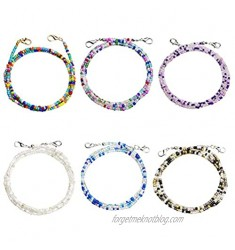 6-12 Pcs Bead Face Mask Lanyard Beads Mask Chains Strap Mask Holders Chains for Women