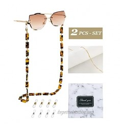Coenii 2 PCS Mask Lanyard Strap Holder Eyeglass Chain Sunglasses Eyewear Chain
