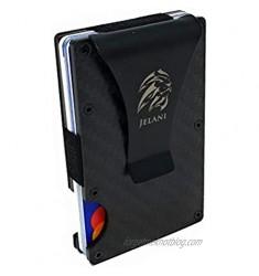 Jelani RFID Blocking Slim Luxury Credit Card Carbon Fiber Card Holder Wallet for Men With Money Clip
