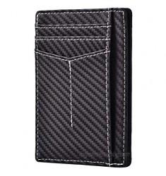Kinzd Slim Minimalist Wallet RFID Front Pocket Wallet Thin Credit Card Holder for Men