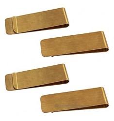 4 Packs Copper Money Clip SourceTon Slim Wallet Credit Card Holder Minimalist Wallet - Copper