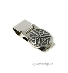 Celtic Money Clip Trinity Knot Spring Loaded Stainless Steel & Pewter Irish Made