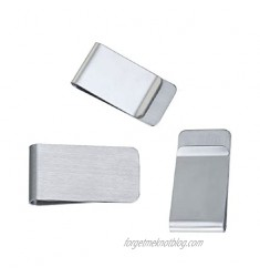 """JGFinds Metal Money Clip - 3 Pack  Stainless Steel Money Clip  Engraving Blanks  2""""x1""""  Gift Personalized Money Clips for Men"""