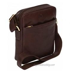 Luxury Genuine Vintage Style Leather Ipad 10.2 Tablet Case Cross Body Shoulder Bag Satchel