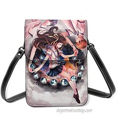 Netmetic Anime F rui-ts B Ask-et F-inal PU Cell Phone Wallet Small Cross-Body Shoulder Bag Purse Adjustable Strap 6.5In