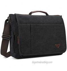 Laptop Bag 17 inch  Mens Messenger Bag Computer Bag Travel Casual Business Canvas Student Shoulder Bag for men