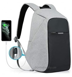 Oscaurt Laptop Backpack Anti-theft Travel Backpack Business School Bookbag with USB Charging Port for Men & Women Fit 15.6 Inches Laptop Grey