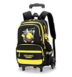 WZCSLM TIK -Tok Pokémon Pikachu Anime School Bags student Oxford Cloth Vacation Backpack Travel Bag Luggage Trolley Case with Six Wheels Good friend's gift Laptop backpack (yellow3)