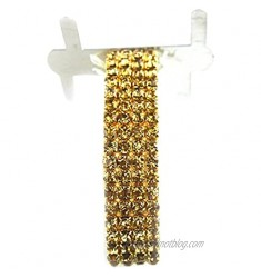 Corsage Wristlet with Rhinestone Band  1-pack (Gold)