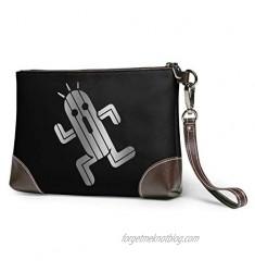 Hcluw Purses Clutch Phone Wallets Final Fantasy Cactuar Leather Small Wristlet Purses Handbag