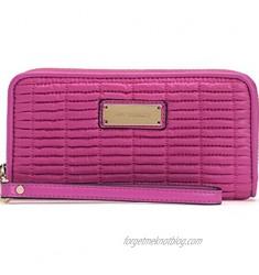 Juicy Couture Nouvelle Pop Nylon Clutch Purse Wristlet in Pink
