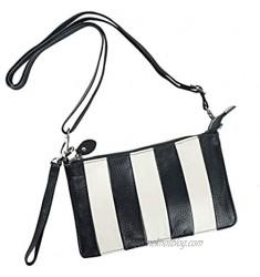 Women Leather Wristlet Clutch Wallet Small Shoulder Crossbody Bag Purse