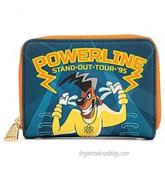 Loungefly Disney Goofy Movie Powerline All Access Pass Faux Leather Zip Around Wallet Cute Wallets Fashion Accessories