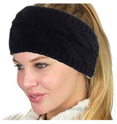 Gortin Winter Headbands Women's Ear Warmer Headband Fuzzy Thick Head Wrap Elastic Fleece Lined Kinit Hair Band for Women