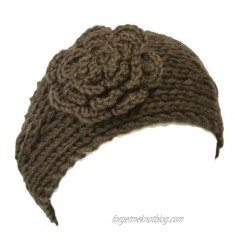 Wrapables Winter Hand Knit Floral Headband