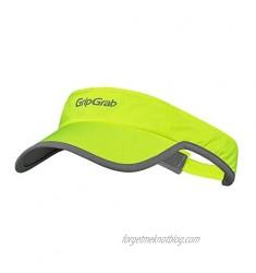 GripGrab Women's Standard Running Visor Summer Baseball-Hat Highly Visible Visorcap Breathable Lightweight Triathlon Marathon  Yellow Hi-Vis  One Size