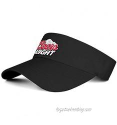Sports Visor Hats Coors-Light-Logo- Men Women Sport Sun Visor One Size Adjustable Cap