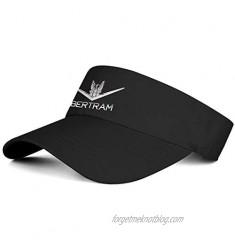 Unisex Visor Bertram-Logo- Sun Hats Outdoor Summer Tennis Caps